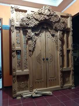 Cuci Gudang Pintu Gebyok Style Jawa Dan Bali 2 2.5 dan 3 meter uswa
