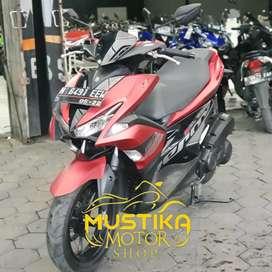 Yamaha Aerox 2017 Warna Red Doff Plat N Asli-Mulus Simpenan Mustika