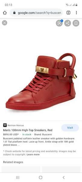 Buscemi 100mm High-Top Sneakers size 44