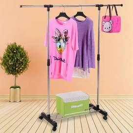stand hanger gantungan rak baju pakaian sepatu jemuran jm-238