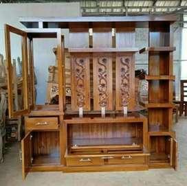 Penyekat ruangan kayu jati minimalis