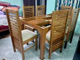 New teak dining set home delivery.8O784)call(565O4