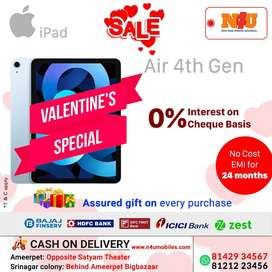Apple ipad Air 4th generation now availble on no cost emi at N4U