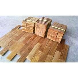 lantai kayu flooring parket jati