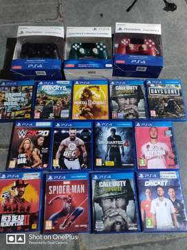 PS4 games and PS4 dual shock 4 controller with warranty