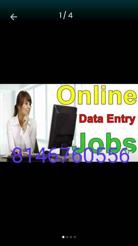 For more details call home based data entry typist