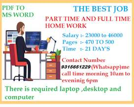Offline Data Entry Job, part-time job,typing