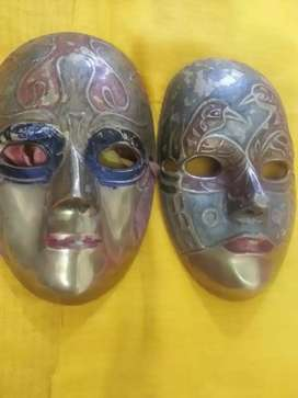 Antique vintage/home/decoration/brass/mask Vintage