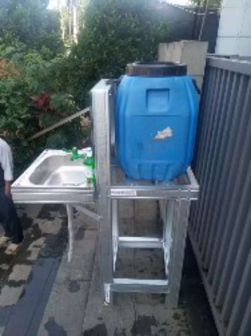 Wastafel portable outdoor anti karat murmer berkualitas 0