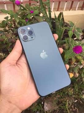 Iphone 11 pro 64gb midnightgreen (-minus face id saja)