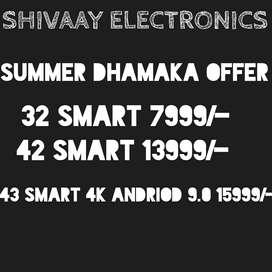 42 smart andriod 4k pannel best price 15999/-