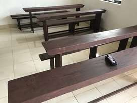 desk and bench 8 set