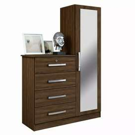 New modern style dressing tables 4drawers with full mirror