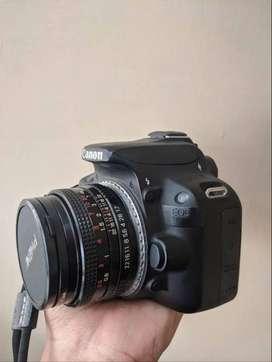 Kamera DSLR 100D + 2 Lensa