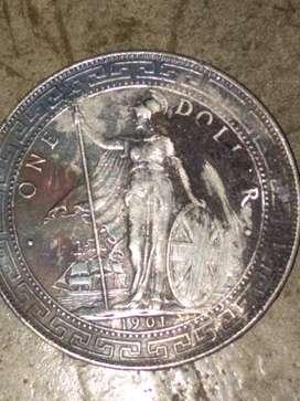 Dijual uang koin kuno tahun 1901