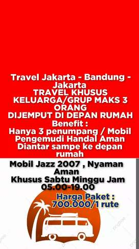 Jasa Travel Jakarta Bandung Jakarta keluarga Grup Maks 3 Orang Aman