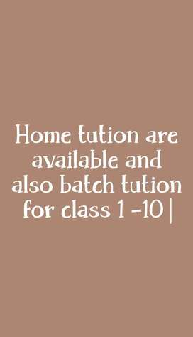 Home tution and batch tution