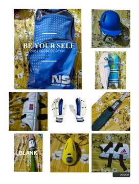 CRIKET KIT(ALL SAFETY PADS) + (SS)YUVI 20/20 BAT + SS CATCHING BAT(R7)