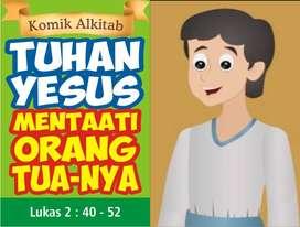 Buku TUHAN YESUS MENTAATI ORANG TUA-NYA - Komik Alkitab Anak
