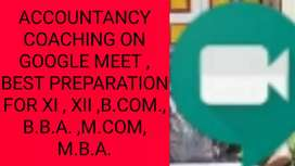 Accountancy Class on google meet By MOHAN SIR(14 YEARS EXPERIENCE)HOD