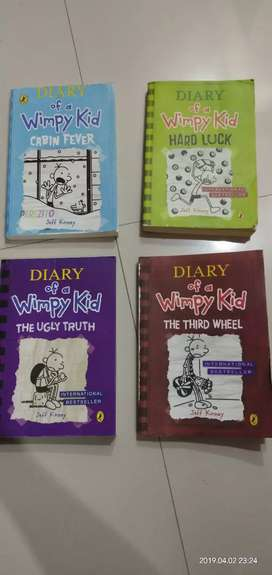 Diary of wimpy Kid set of 4 books