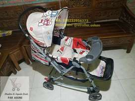 Stroller Pliko Kasur Custom Hello Kitty
