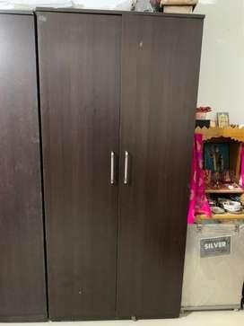 2 Door Wooden Wardrobe