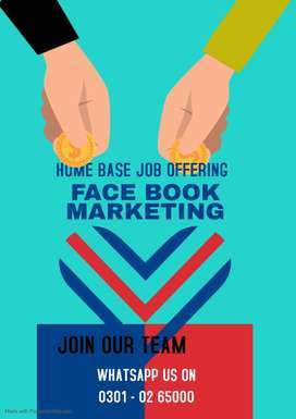 We are looking students, youngster for online face book marketing job
