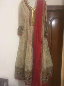 Chanderi Anarkali & Georgette palazzo suit with dupatta