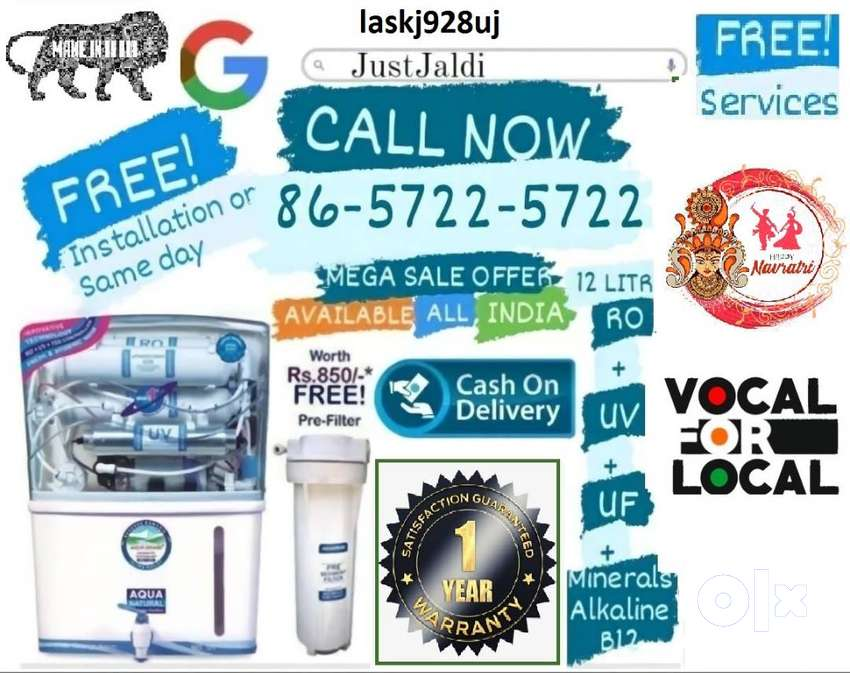 laskj928uj RO water filter DTH water purifier tv water tank  FREE DELI