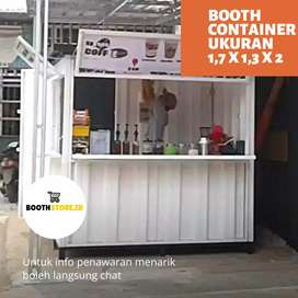 Gerobak / Booth Semi Container Free Costum & Barang Ready !