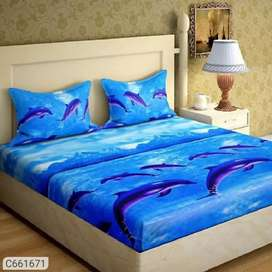 Pure cotton printed Bed sheet (new)