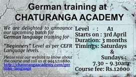German A1 batch coaching starts on 3rd April
