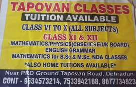 Tapovan classes 10th to 12th