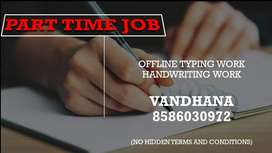 Handwriting Job Opportunity for Everyone-OFFLINE TYPING JOB