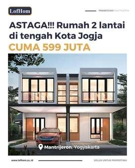 Rumah 2 Lantai di Kota Jogja Dalam Ringroad, Mantrijeron, Masuk Mobil