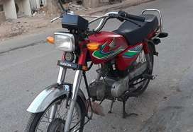 Honda CD 70 karachi Num 2017 Model