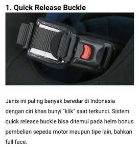 Cover quick release buckle lock strap helm