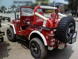 Red modified Sporty look jeep
