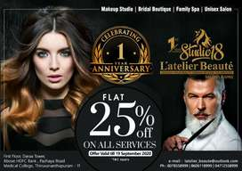25% OFF on all Services call us