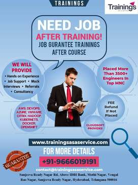 Trainingsasaservice provides job gurantee trainings  in Cloud