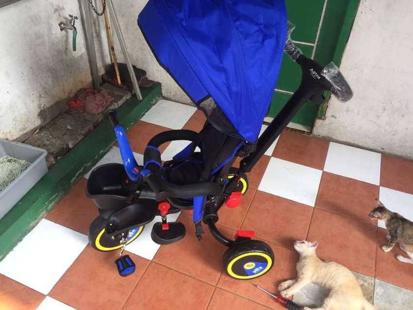 Sepeda Anak Tricycle Family Elite Astan Roda 3 Lipat - Biru