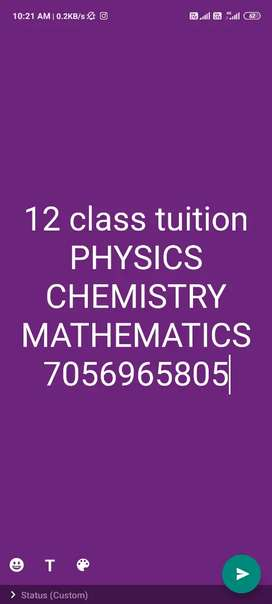 12 class tuition for SCIENCE STREME
