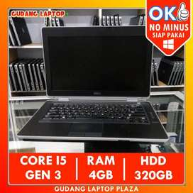 DELL E6430 CORE I5 4GB 320GB LAPTOP BEKAS MURAH NOTEBOOK SECOND GAMING