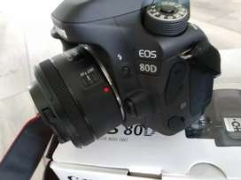 Canon 80d camera complete box for sale