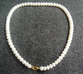100% genuine cultured pearls Necklace+Earings