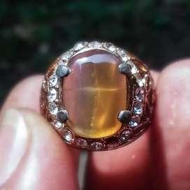 Akik Cincin Batu Tapak Jalak Kristal Minimalis Elegant Ring No.5