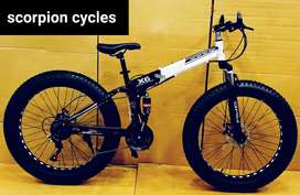New fat folding bicycls with shockers