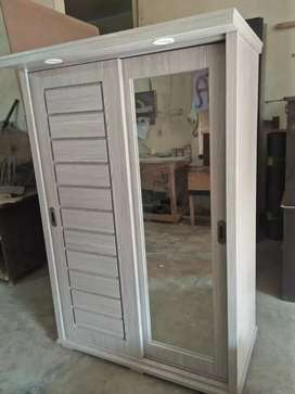 New modern style sliding wardrobe with lights and mirror best quality