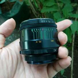 Lensa Fix Manual Helios 44-2 swirly bokeh good condition  (rare item)